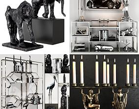 3D birds Eichholtz Accessories collection sets