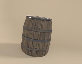 3D model game-ready Barrel