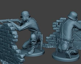 3D printable model German soldier ww2 shoot cover G5