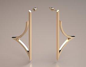 art minimal gold earrings model
