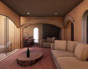 SHC Spanish Modern House 2 3D model realtime