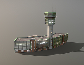 3D asset Airport Control Tower LIRN KDP Naples 1