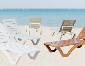 3D asset Sunbed