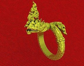 RINGS snake god naga 3D print model