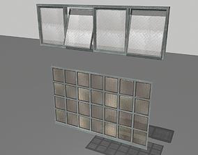 3D model Factory windows pack 2