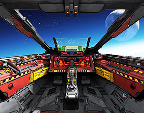 Spaceship Cockpit C2 3D asset