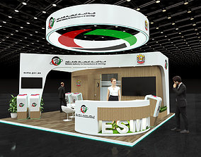 Exhibition stand 6x6Mtr 3D model