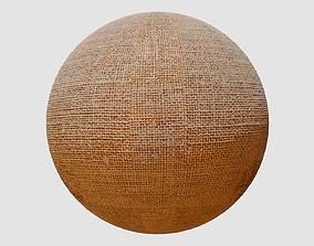 Burlap Fabric PBR Texture 3D model