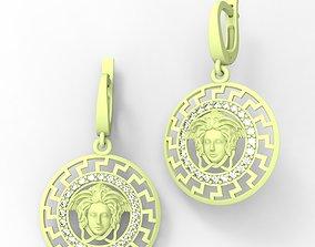 earrings medusa gorgon 3D printable model