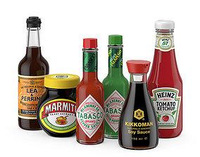 Sauces set 3D model
