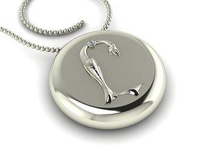 Bird-calligraphy pendants Y 3D print model
