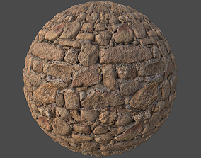 Rock Wall 001 Tileable Material 3D model