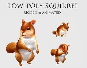 squirrel chipmunk chipmuck chippy animation 3D asset