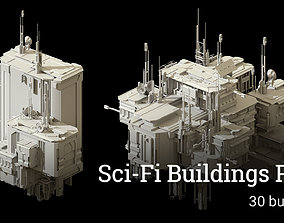 Sci-Fi Buildings Pack - 30 Buildings 3D model