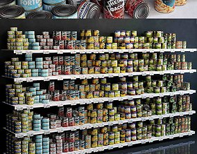 3D model Showcase 004 Canned food