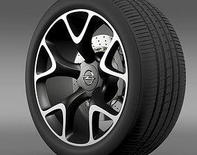 3D Opel Insignia OPC Concept wheel