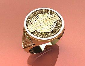 3D printable model harley ring