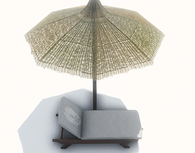3D asset lounger with Umbrella