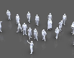 Posed People 3D model