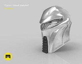 3D print model Cylon robot helmet from Batlestar Galactica
