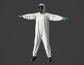 3D model Hazmat Worker Clothes
