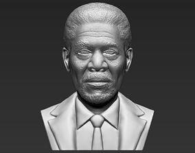 Morgan Freeman bust 3D printing ready stl obj
