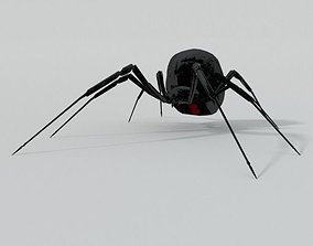 3D asset VR / AR ready Black Widow