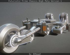 Futuristic Trike Chassis High Poly Version 1 3D model