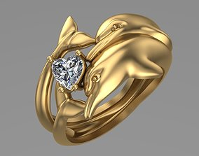 3D print model dolphins ring