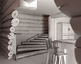 3D model Wooden Interior