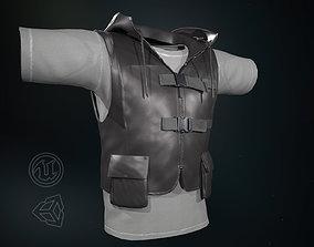 3D model Men Vest And T-Shirt