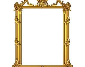 picture-frame carved frame 3D