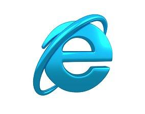 Internet Explorer Logo v1 005 3D model VR / AR ready