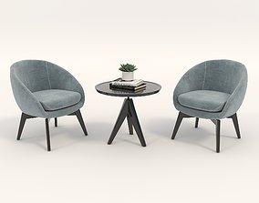 3D Coffee Table and Chairs
