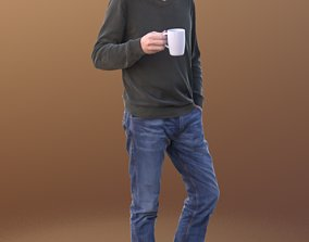 Carlos 10204 - Standing Casual Guy 3D model
