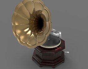 Old Gramophone 3D