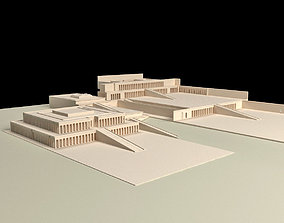 Egyptian Queen Hatshepsut Temple 3D print model
