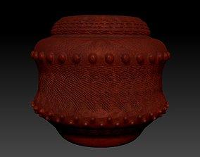 brown vase with brown ceramic 3D print model