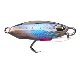 metal Jig 3D model Fishing Lure low-poly