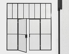 Glass partition door 88 3D asset