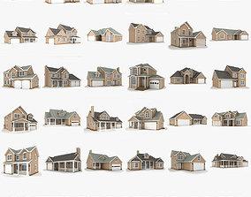 3D Hi-poly cottages mega pack 01