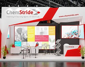 Exhibition Stand 6x3-1 side open 3D model