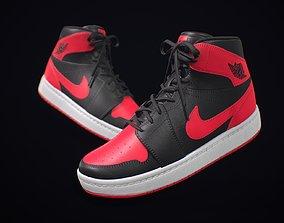 Sneaker Nike Air Jordan Red Black 3D asset