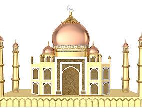 The Taj Mahal - Gold Pendant 3D print model