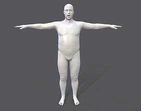 3D model Middle poly male basemesh - 4