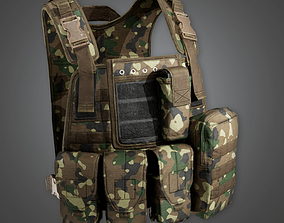 3D model Military Tactical Soldier Vest 01 - MLT - PBR 1