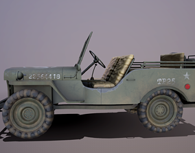 Willys Jeep 3D asset rigged