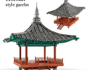 Korean style gazebo 3D