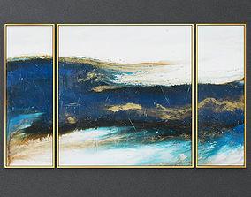 3D Three piece set of art