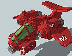 6mm and 8mm RainClaw Ground-Attack Fighter 3D print model